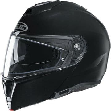 HJC I90 Gloss Black Flip Modular Motorcycle Motorbike Helmet - Smart HJC Ready